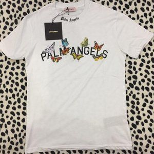 PALM ANGELS WHITE SHIRT MEN NEW SEASON WITH PACKET